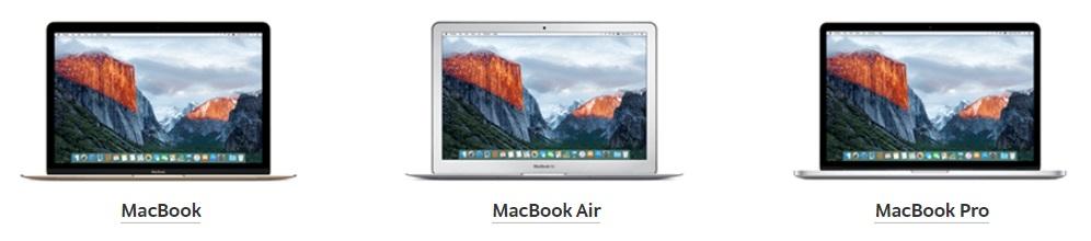 Виды MacBook